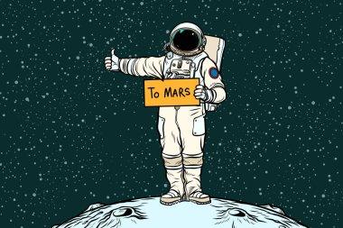 Astronaut hitch rides on Mars