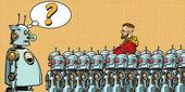 Fotografie Zukunft. Die Wahl zwischen Robotern und Menschen