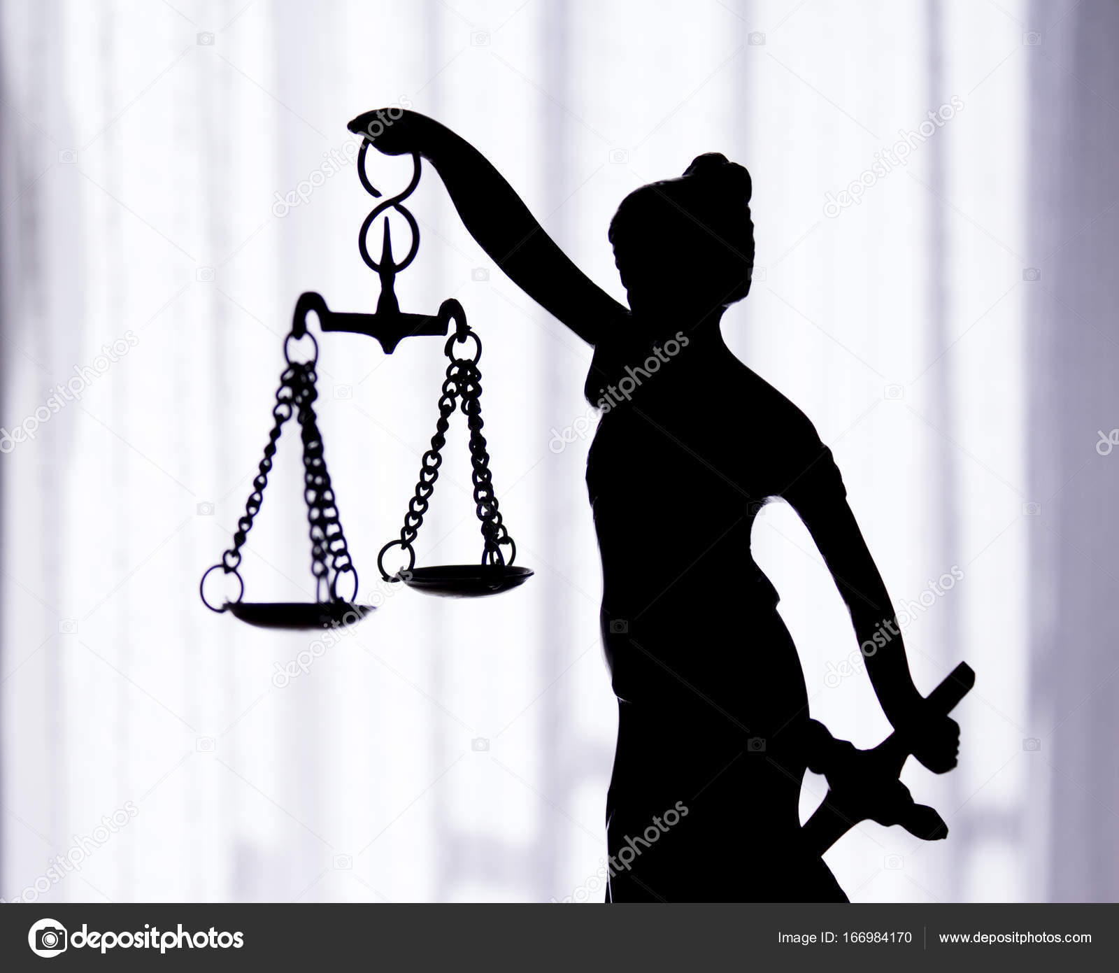 Metal Statue Symbol Of Justice Themis Stock Photo Gemaibarra