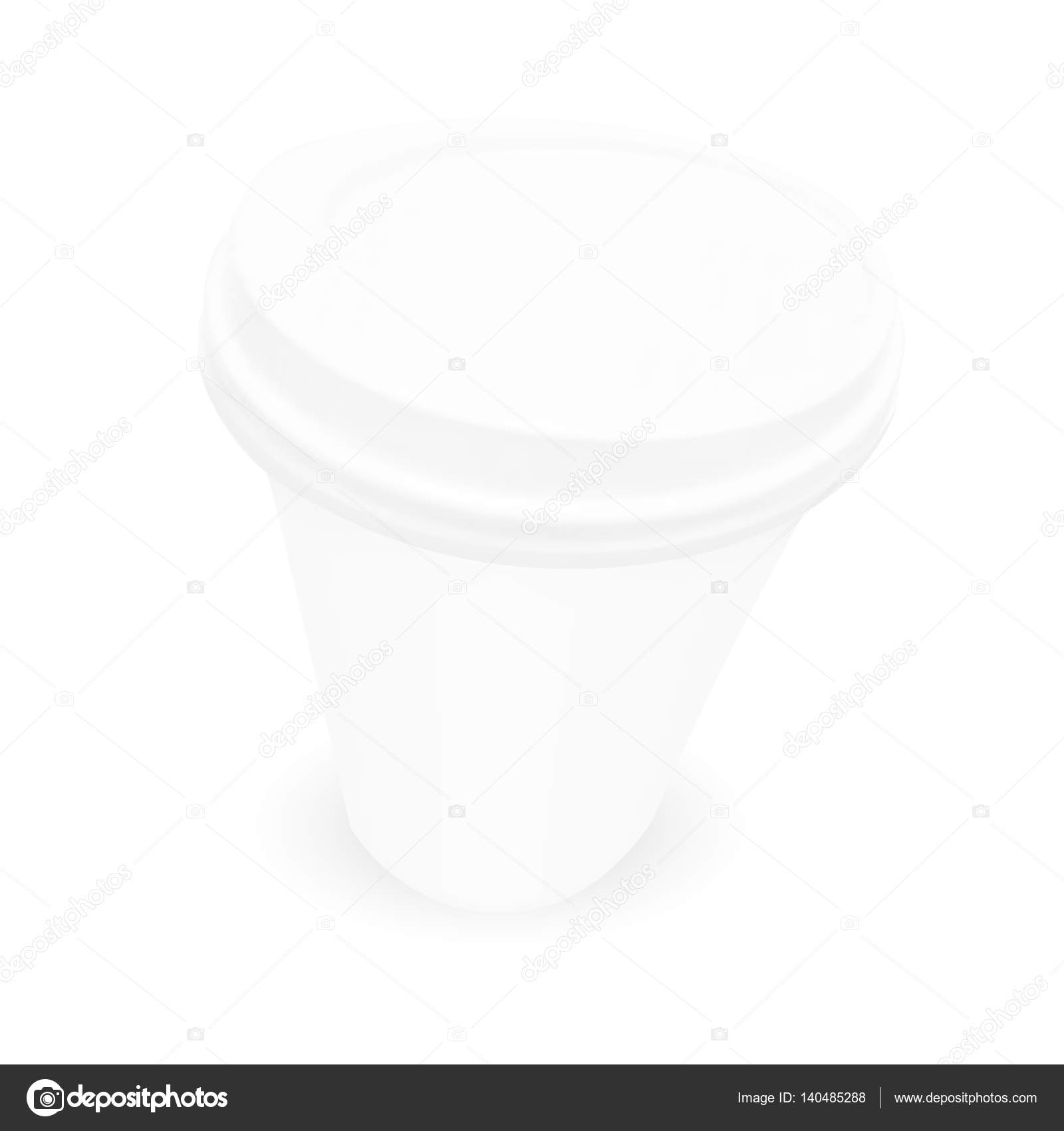 white paper coffee cup template stock vector prahprah 140485288