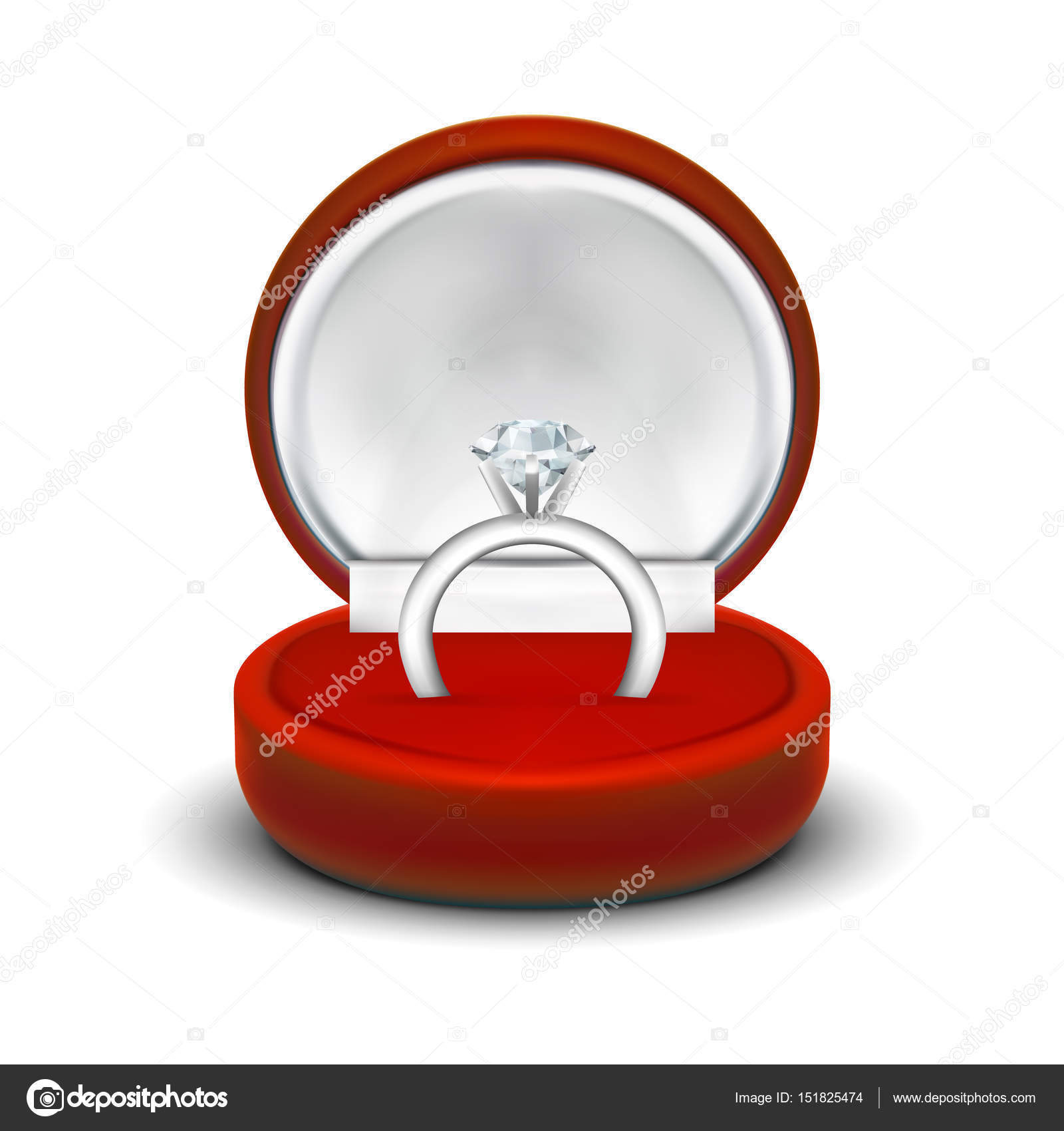 Luxury Red Circular High Quality Velvet Ring Necklace Jewelry Gift Box