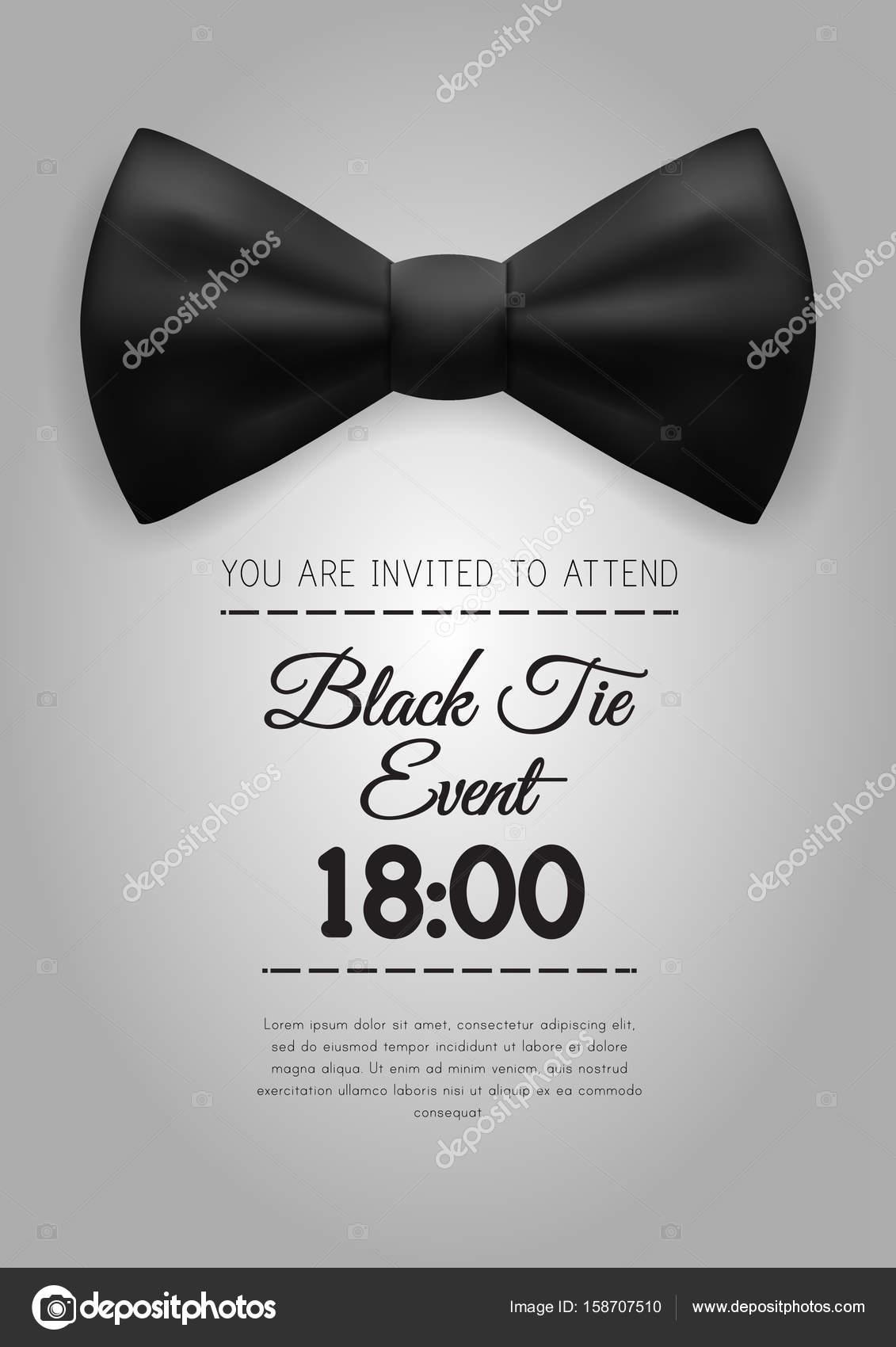 A4 modelo de convite de evento de elegante black tie vetores de a4 modelo de convite de evento de elegante black tie vetores de stock ccuart Gallery