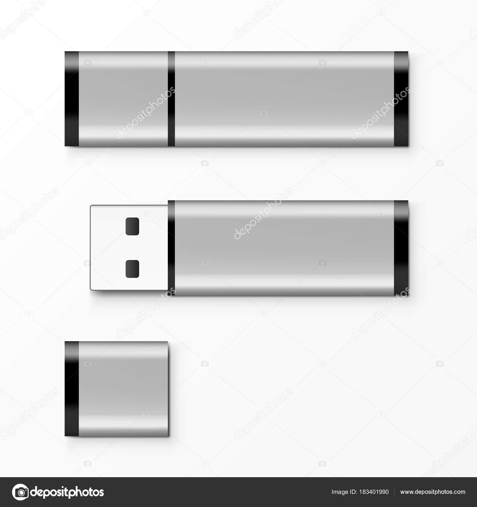 Chrome Usb Flash Drive Template For Advertising Branding And Corporate Identity Stock Vector C Prahprah 183401990