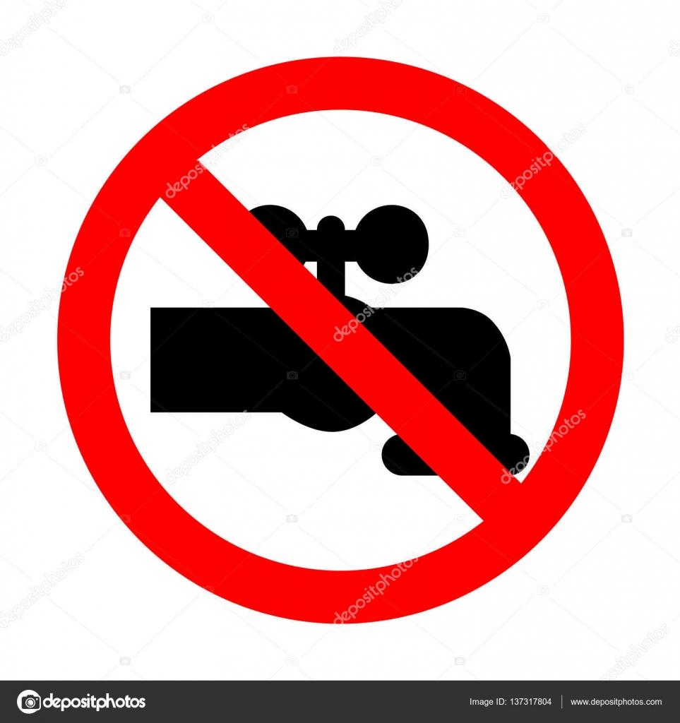 No Water faucet sign illustration. — Stock Vector © Asmati1702@gmail ...