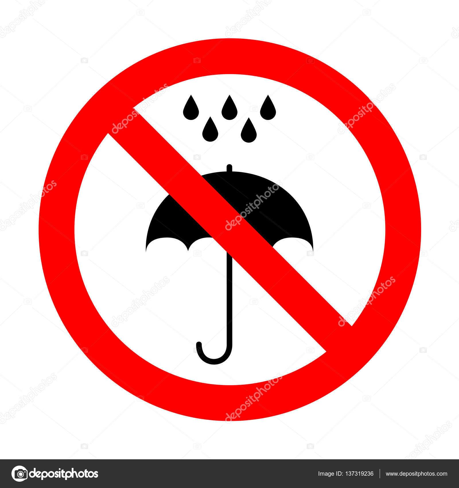 No paraguas con gotas de agua. Símbolo de la protección de lluvia ...