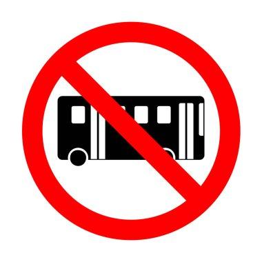 No Bus simple sign.