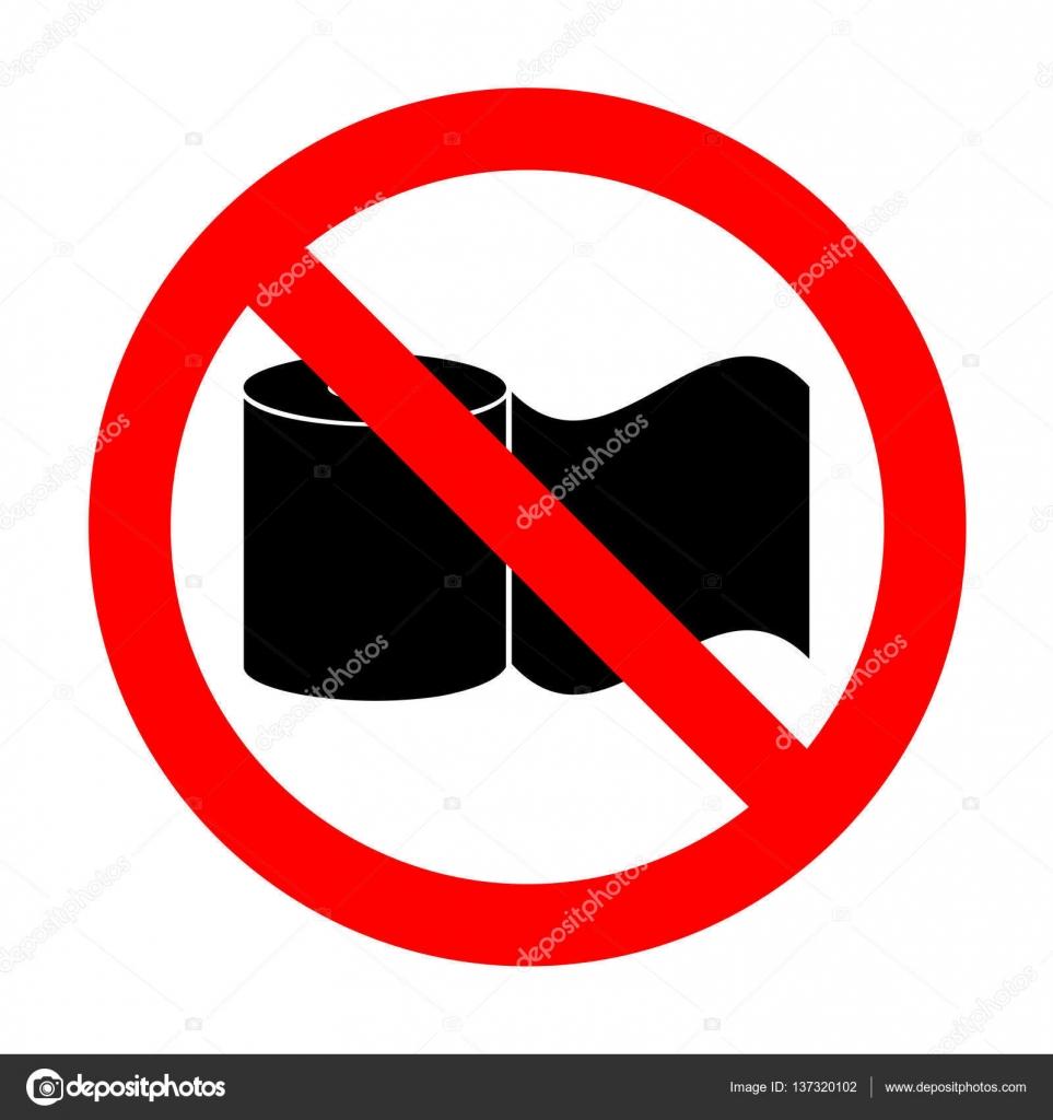 Top No Toilet Paper sign. — Stock Vector © Asmati1702@gmail.com #137320102 RJ19