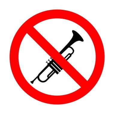 No Musical instrument Trumpet sign.