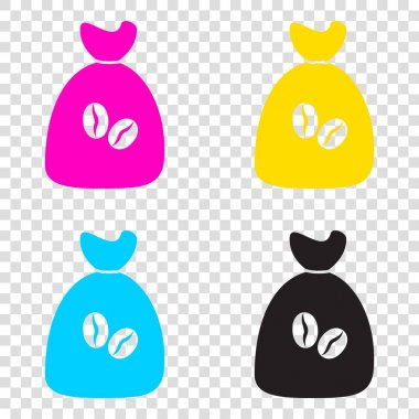 Coffee bag Icon. Coffee bag Vector. Coffee bag Icon Button. CMYK