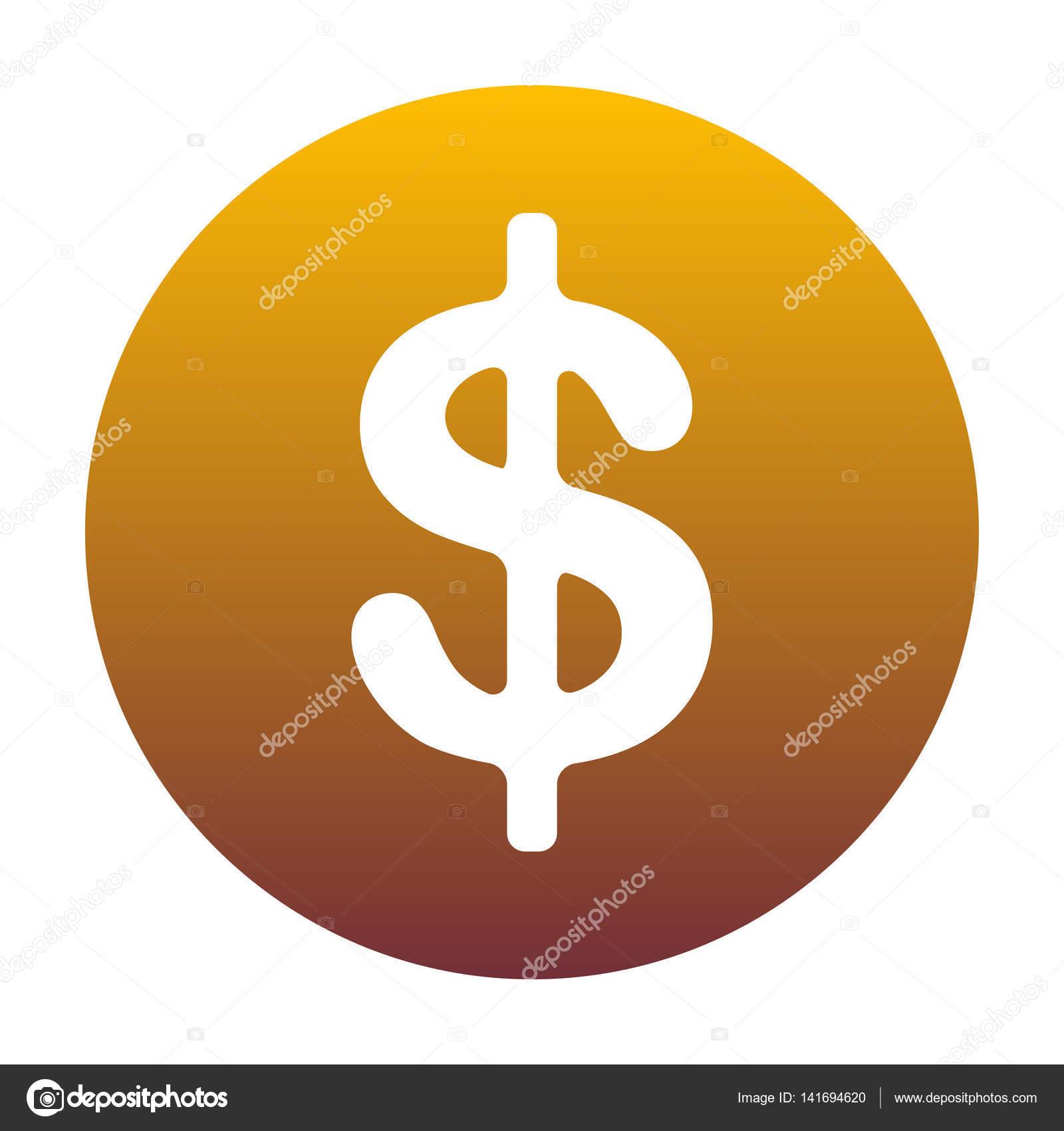 Dollars Sign Illustration Usd Currency Symbol Money Label Whi