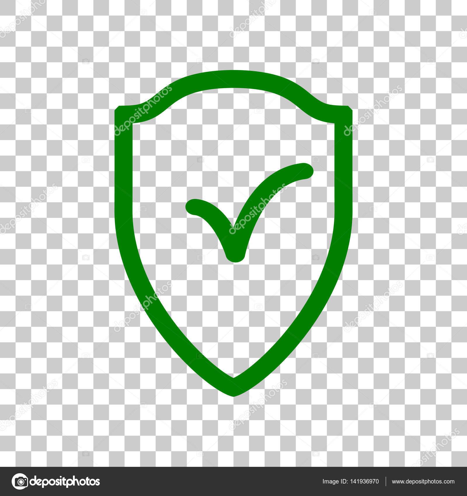 Schild Schild Als Schutz Und Versicherung Symbol Dunkel Grunes