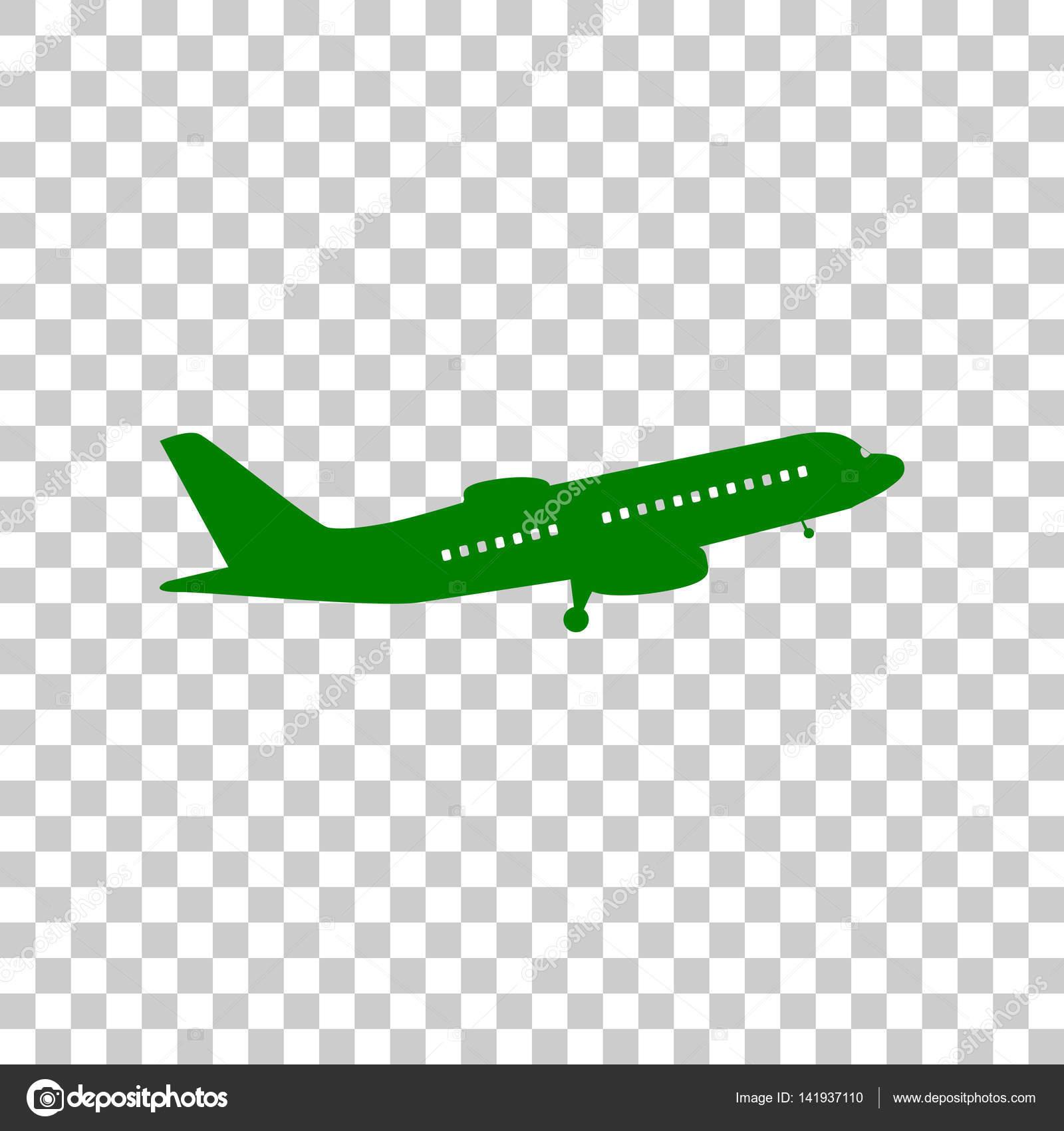 Dark Green Icon On Transparent Background Stock