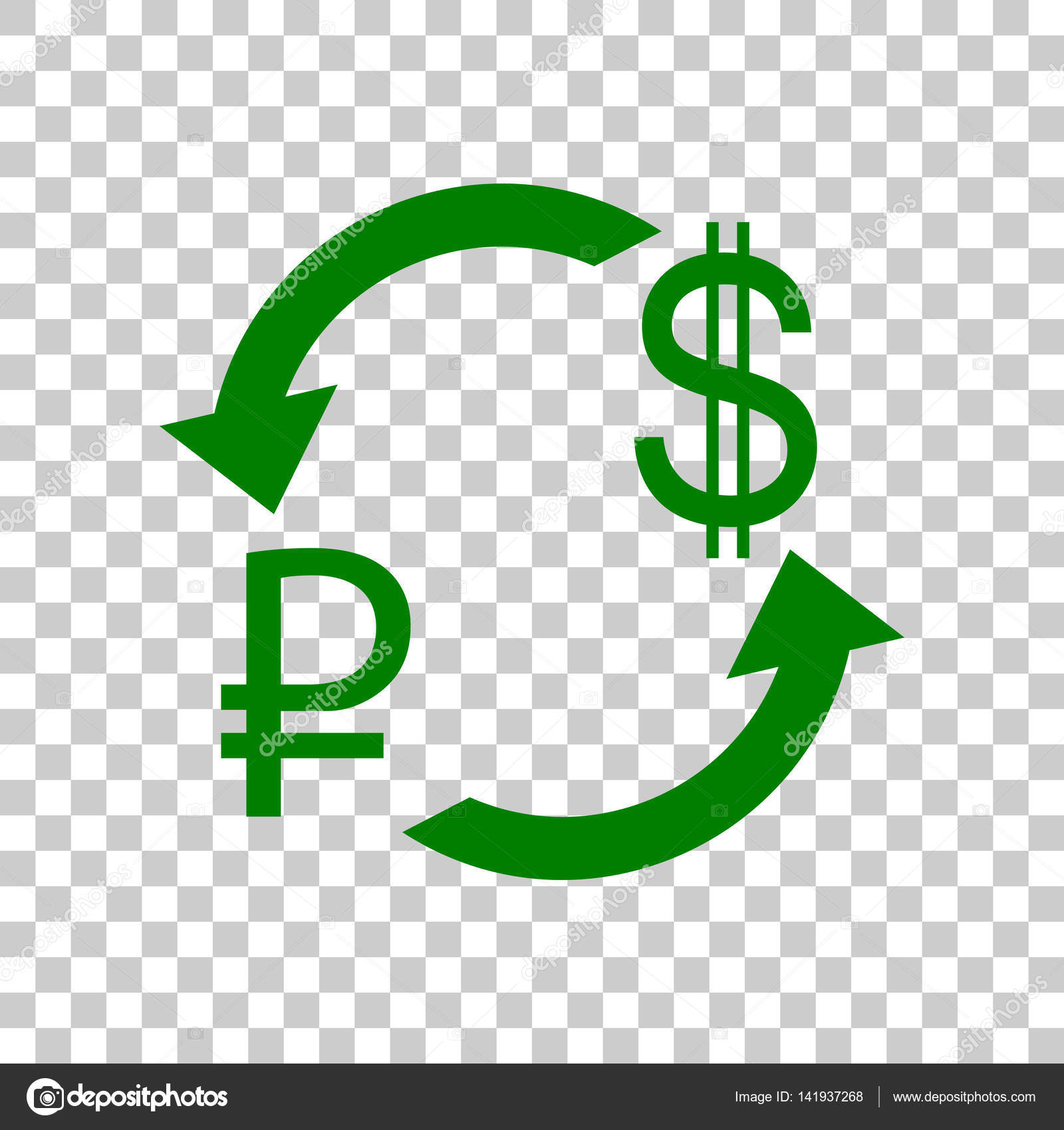 Currency exchange sign rouble and us dollar dark green icon on currency exchange sign rouble and us dollar dark green icon on transparent background biocorpaavc Gallery