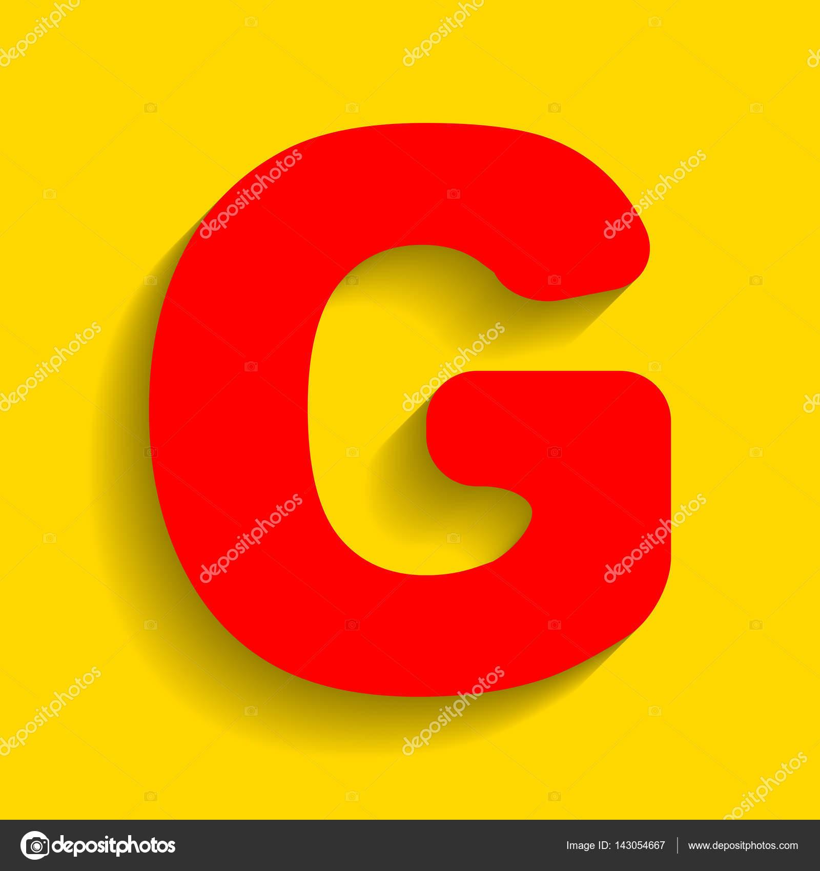 Letter g sign design template element vector red icon with soft letter g sign design template element vector red icon with soft shadow on golden maxwellsz