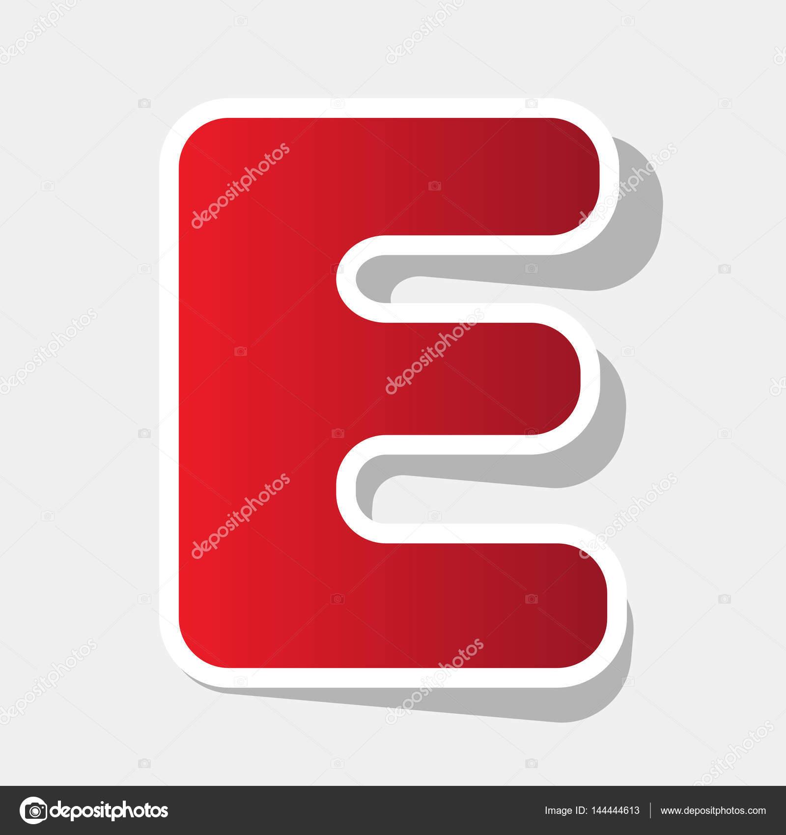 Letter e sign design template element vector new year reddish icon letter e sign design template element vector new year reddish icon with outside stroke spiritdancerdesigns Images