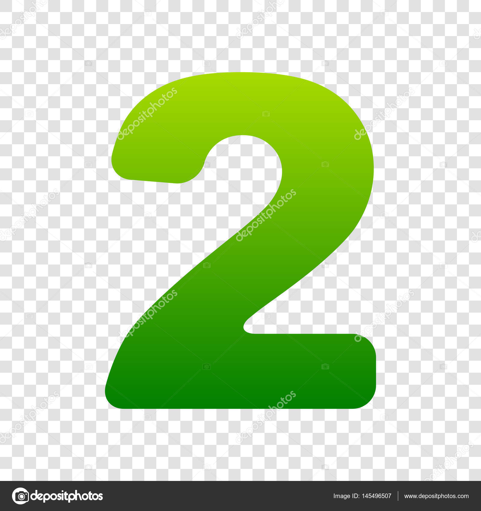 Number 2 sign design template elements vector green gradient number 2 sign design template elements vector green gradient icon on transparent background pronofoot35fo Image collections