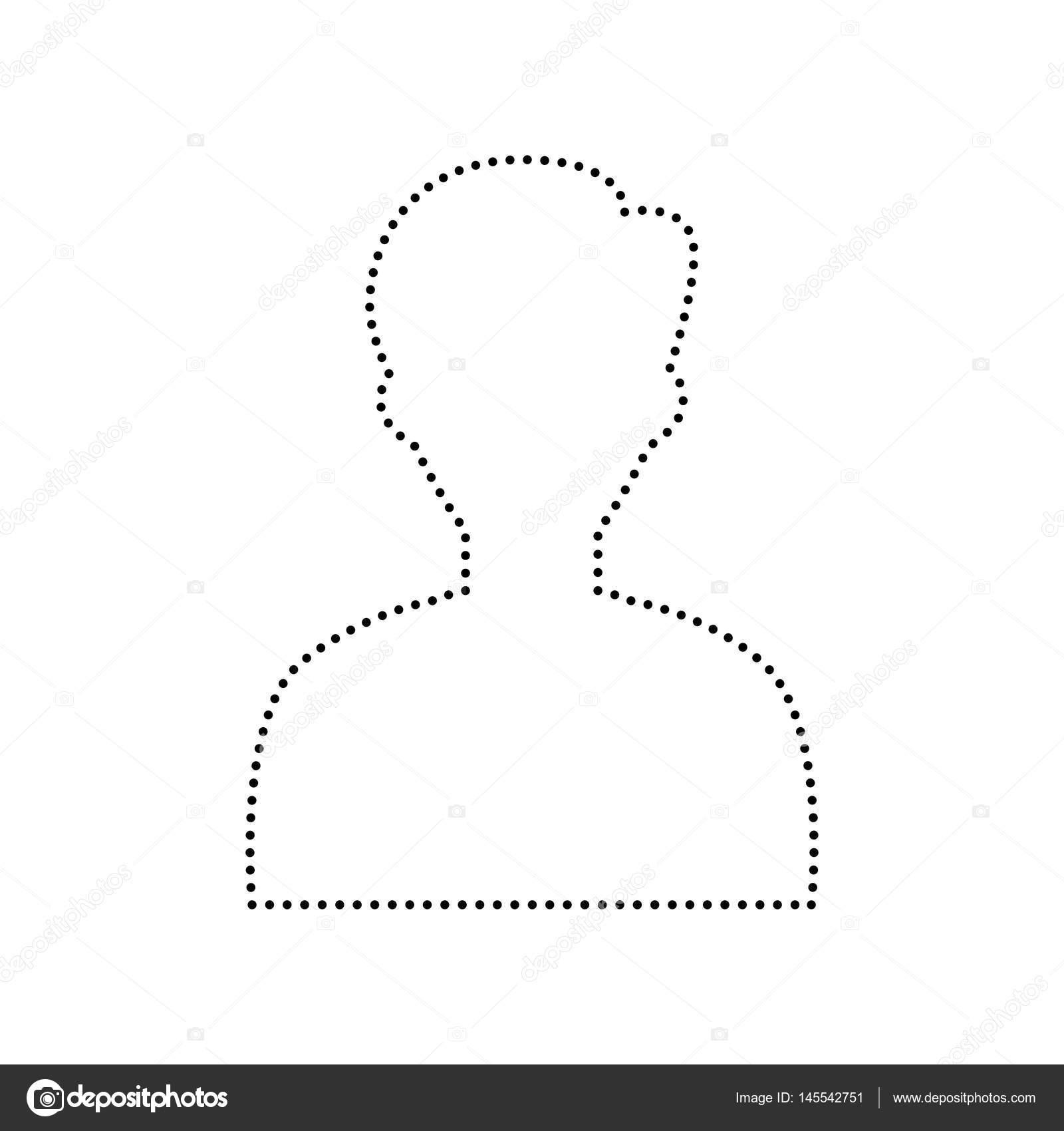 User avatar illustration  Anonymous sign  Vector  Black