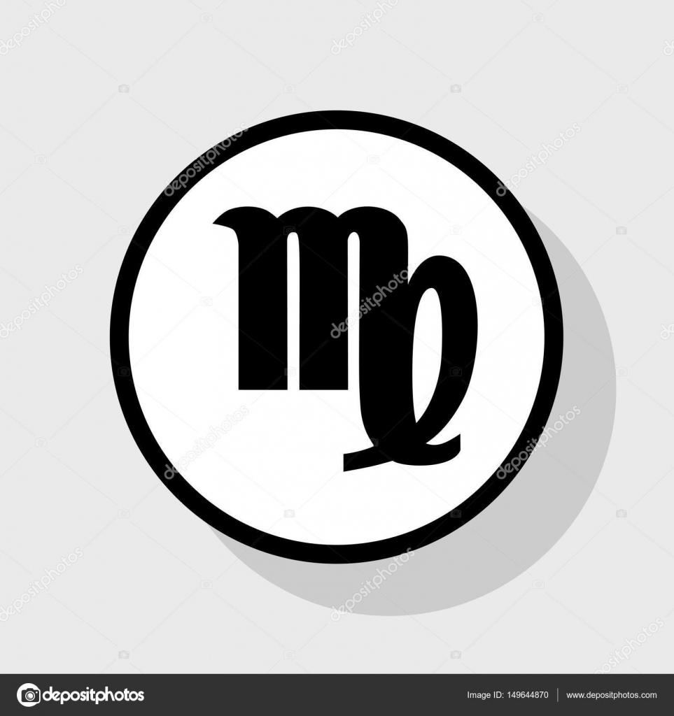 maagd teken illustratie vector platte zwarte pictogram. Black Bedroom Furniture Sets. Home Design Ideas