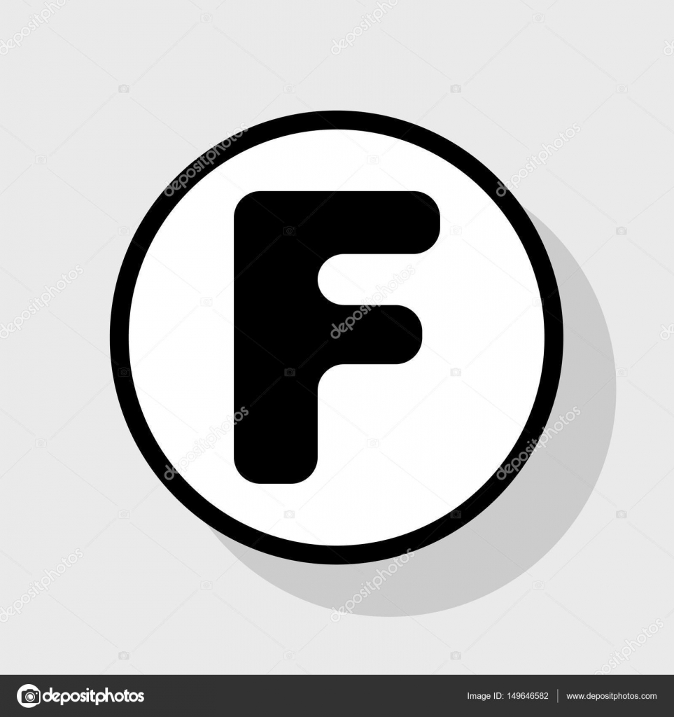 Letter F Sign Design Template Element Vector Flat Black Icon In