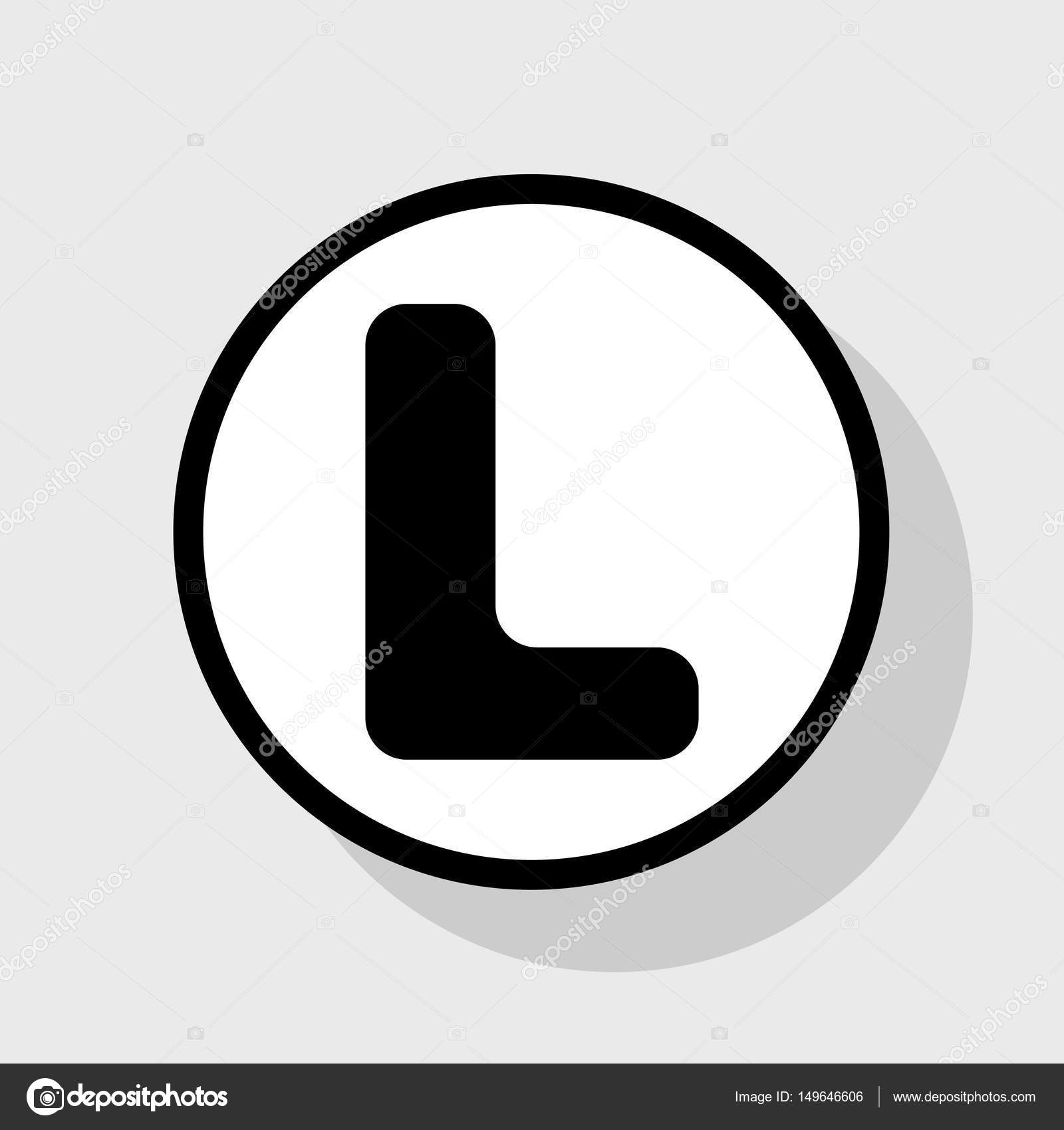 Letter L sign design template element. Vector. Flat black icon in ...