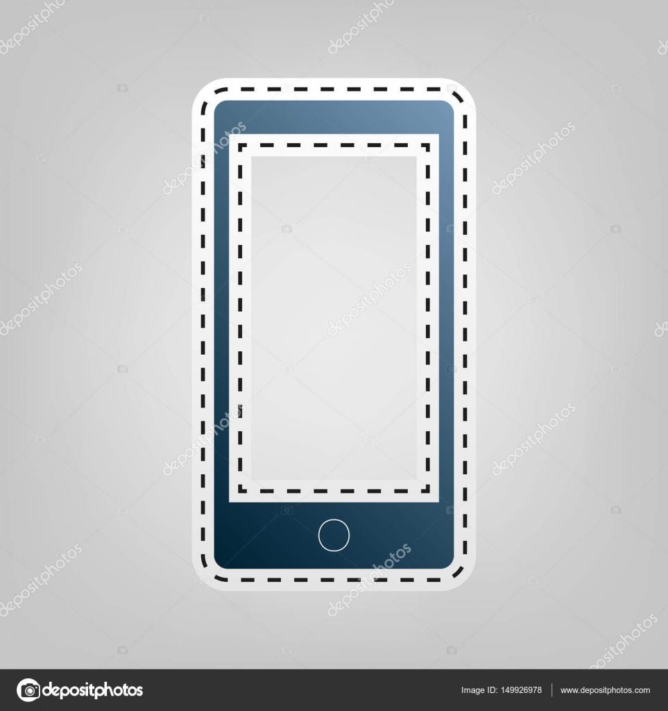 Abstrakter Stil moderne Gadget mit leeren Bildschirm. Vorlage für ...