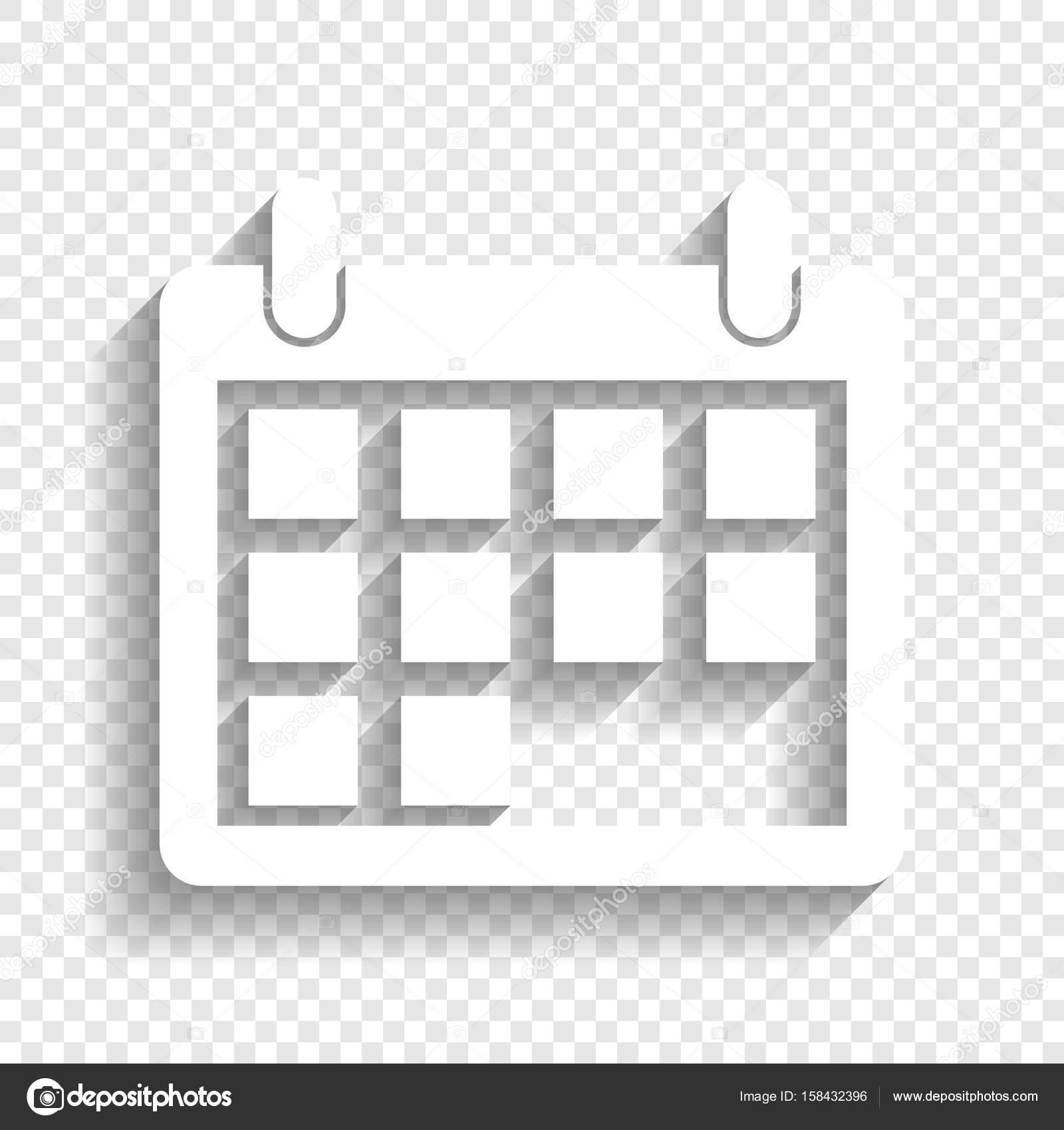 Calendario Vector Blanco.Vector Calendario En Blanco Ilustracion De Signo De