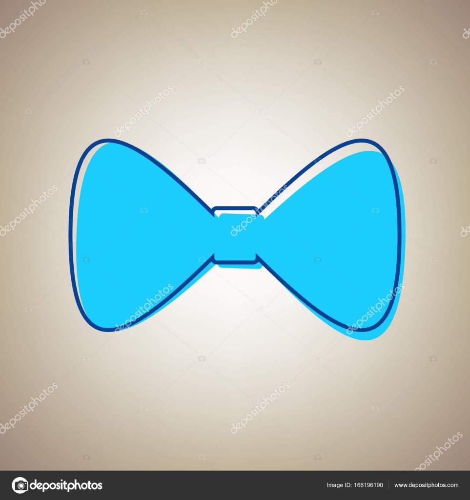 9fd8ac174 Símbolo de la pajarita. Vector. Icono azul cielo con contorno azul desertó  sobre fondo