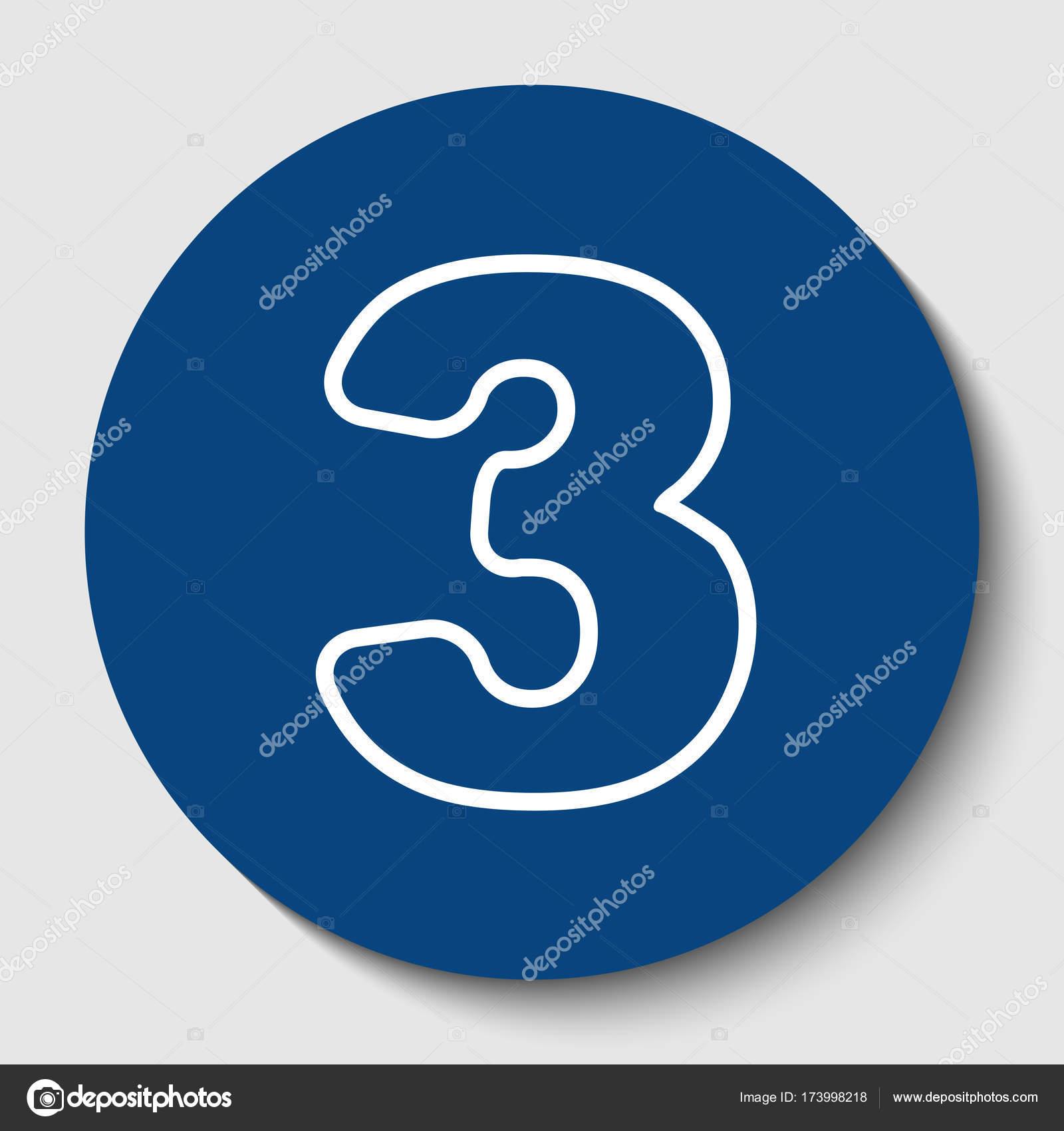 Elemento de plantilla de diseño de signo de número 3. Vector. Icono ...