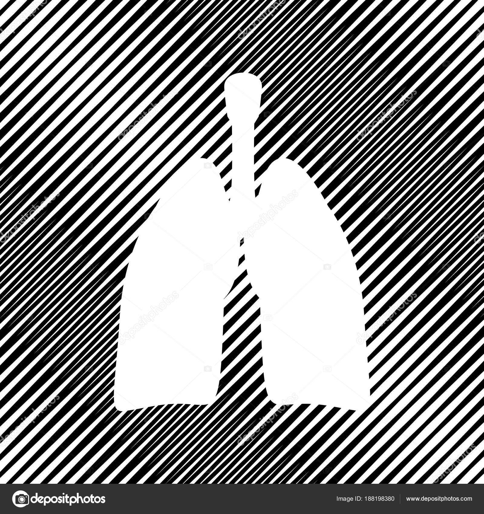 Anatomía humana. Signo de los pulmones. Vector. Icono. Agujero en el ...