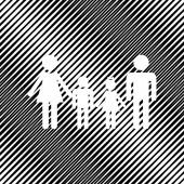 Fotografie Familienzeichen. Vektor. Symbol. Loch im Moorhintergrund.