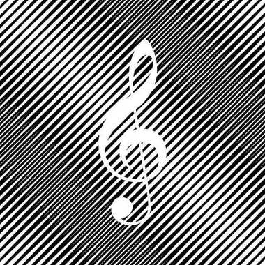 Music violin clef sign. G-clef. Treble clef. Vector. Icon. Hole