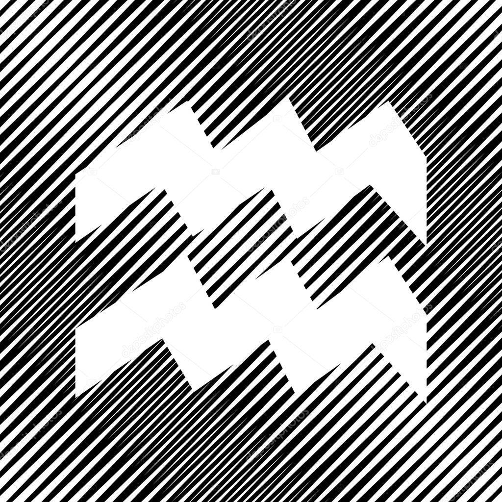wassermann zeichen darstellung vektor symbol loch in moir staatlich stockvektor. Black Bedroom Furniture Sets. Home Design Ideas