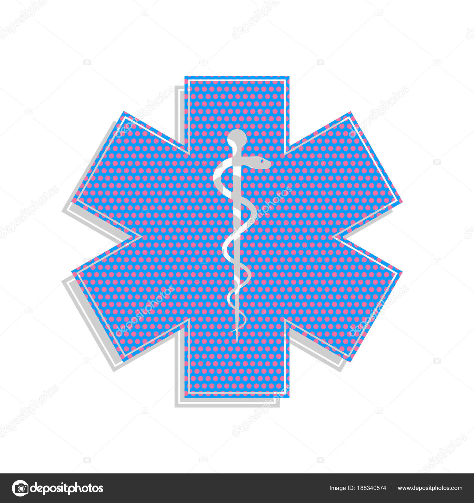 Medical Symbol Of The Emergency Or Star Of Life With Border Vec