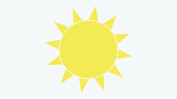 Ikona slunce. Černá ikona na průhledném pozadí. Ilustrace.