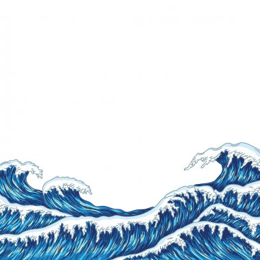 big blue sea waves