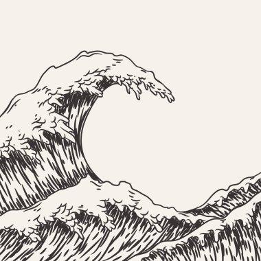 "Картина, постер, плакат, фотообои ""большие морские волны"", артикул 139503732"