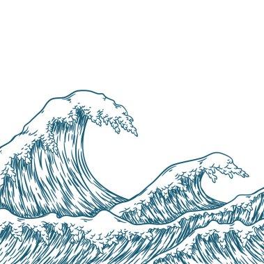 "Картина, постер, плакат, фотообои ""большие голубые морские волны"", артикул 139503756"