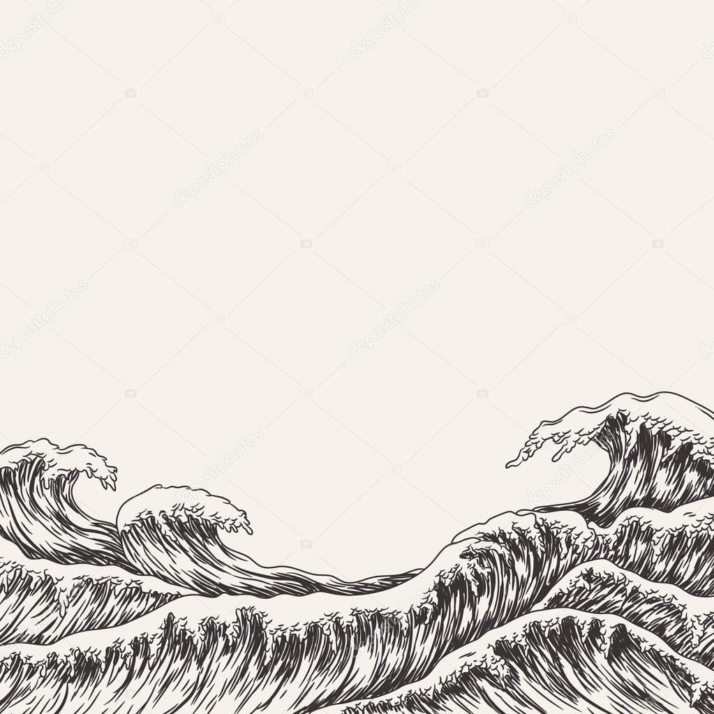 big sea waves