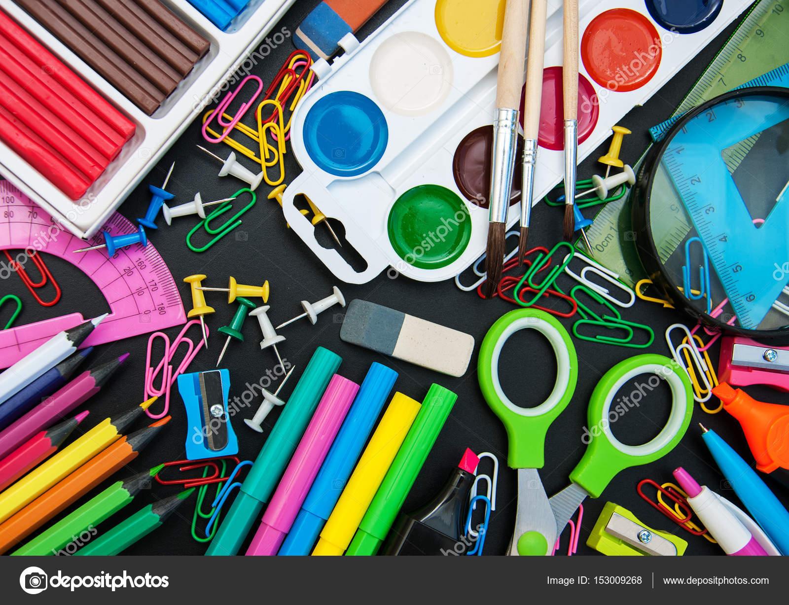 Fournitures de bureau scolaire u2014 photographie almaje © #153009268