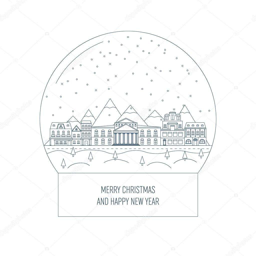 abstract vector merry christmas layout background for happy new