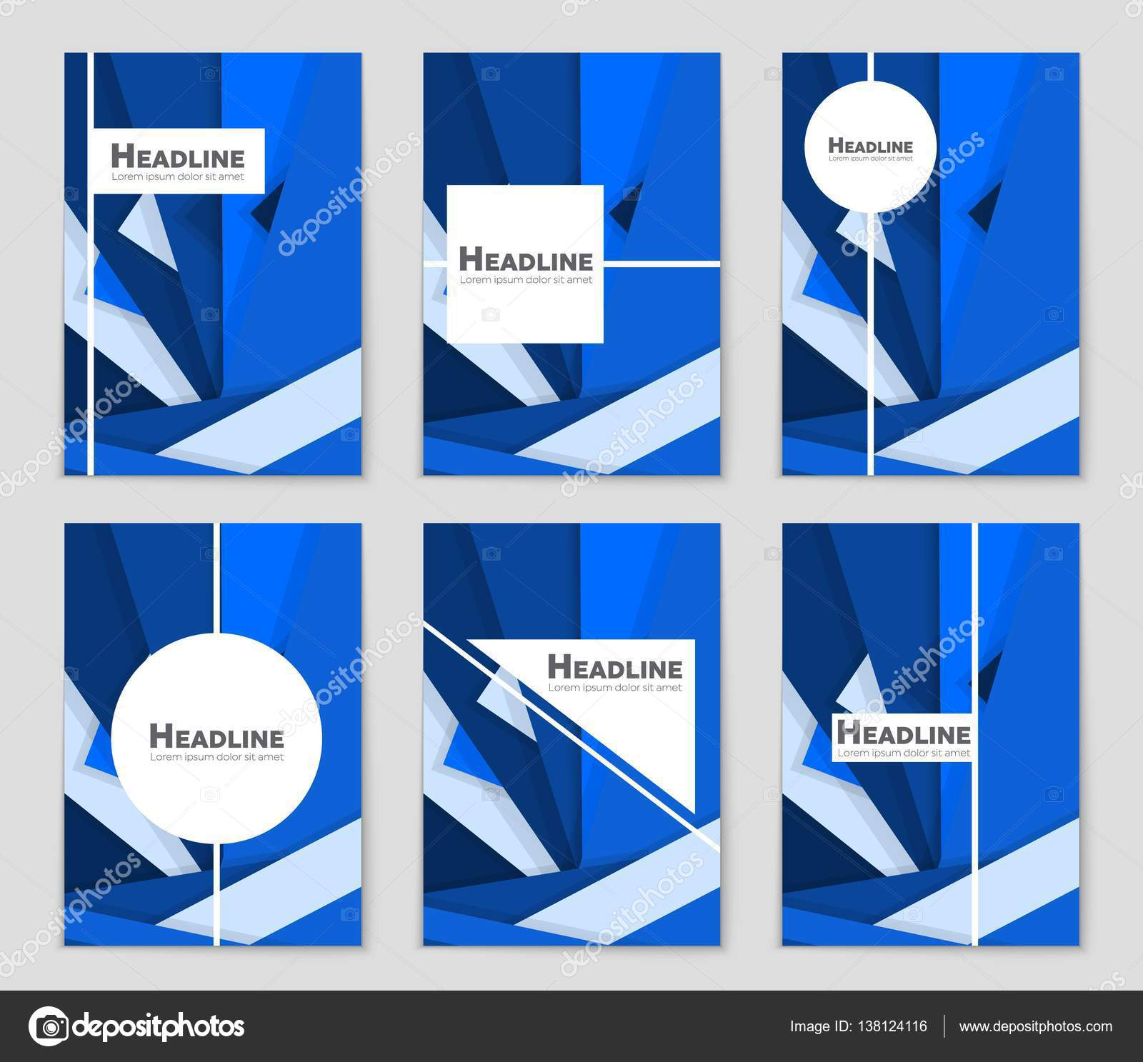 Abstract Vector Layout Background Set For Art Template Design