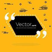 Abstraktní pojem vektor prázdné čtvercové citace textu bublinu. Pro web a mobilní aplikace izolované na pozadí, obrázek šablony design, tvůrčí prezentace, obchodní informační leták sociální média