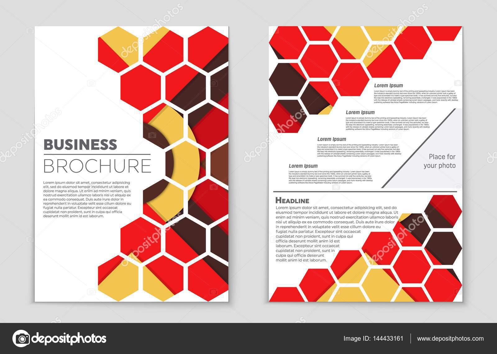 Cover Buku Keren Abstract Vector Layout Background Set