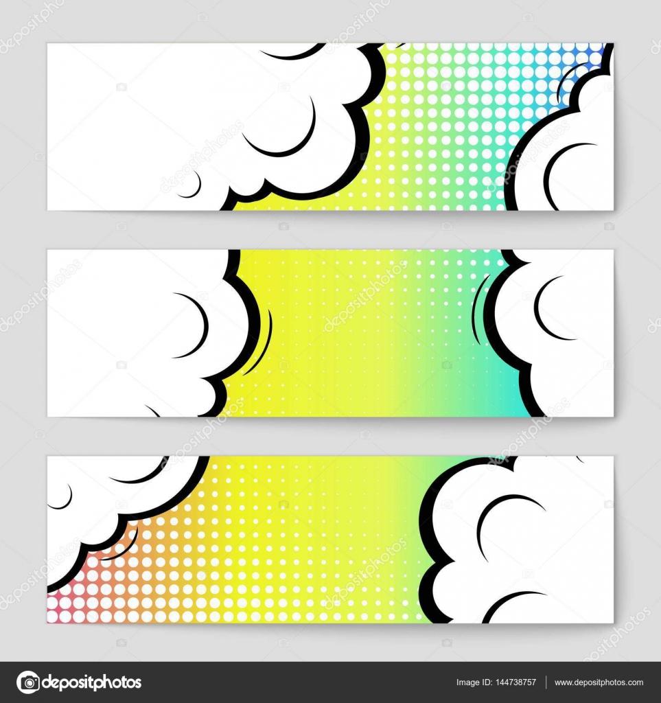Kreative abstraktes Vektor comic Pop-Art Stil leer, Layout-Vorlage ...