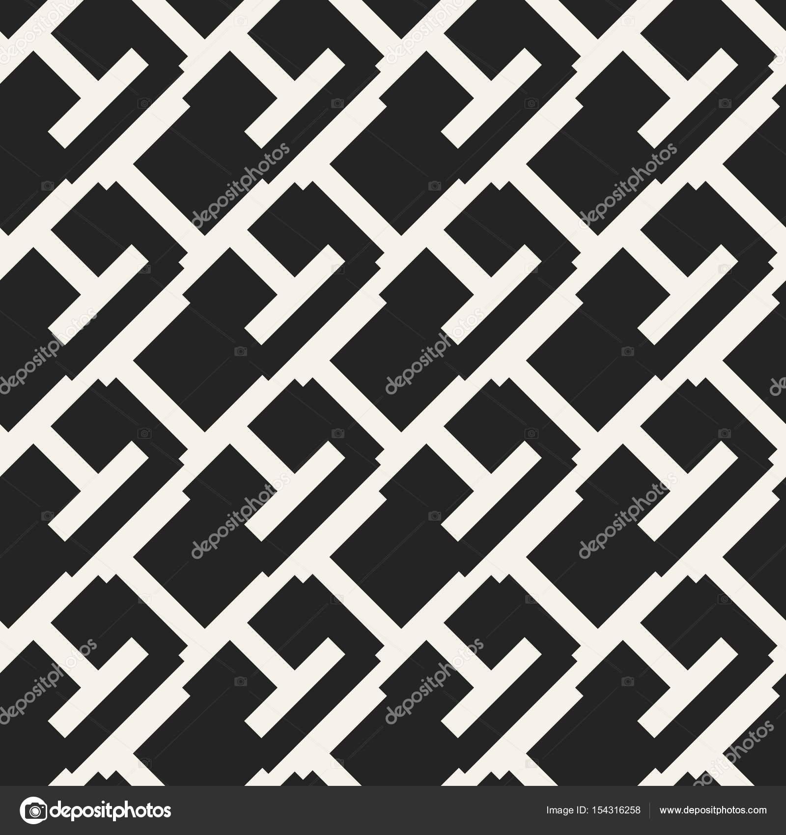 Patrón geométrico monocromo de concepto abstracto vector. Fondo ...