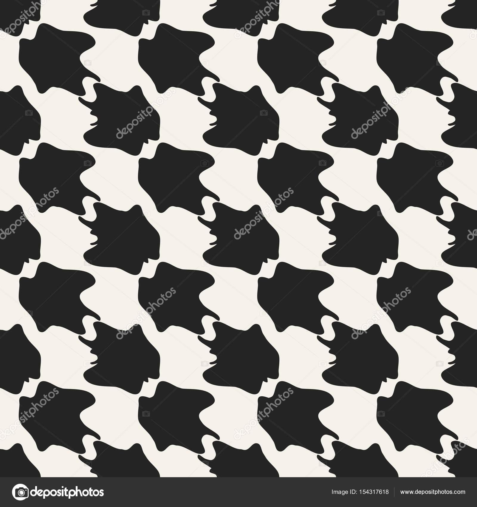 geométrico monocromo de concepto abstracto vector. Fondo mínimo de ...