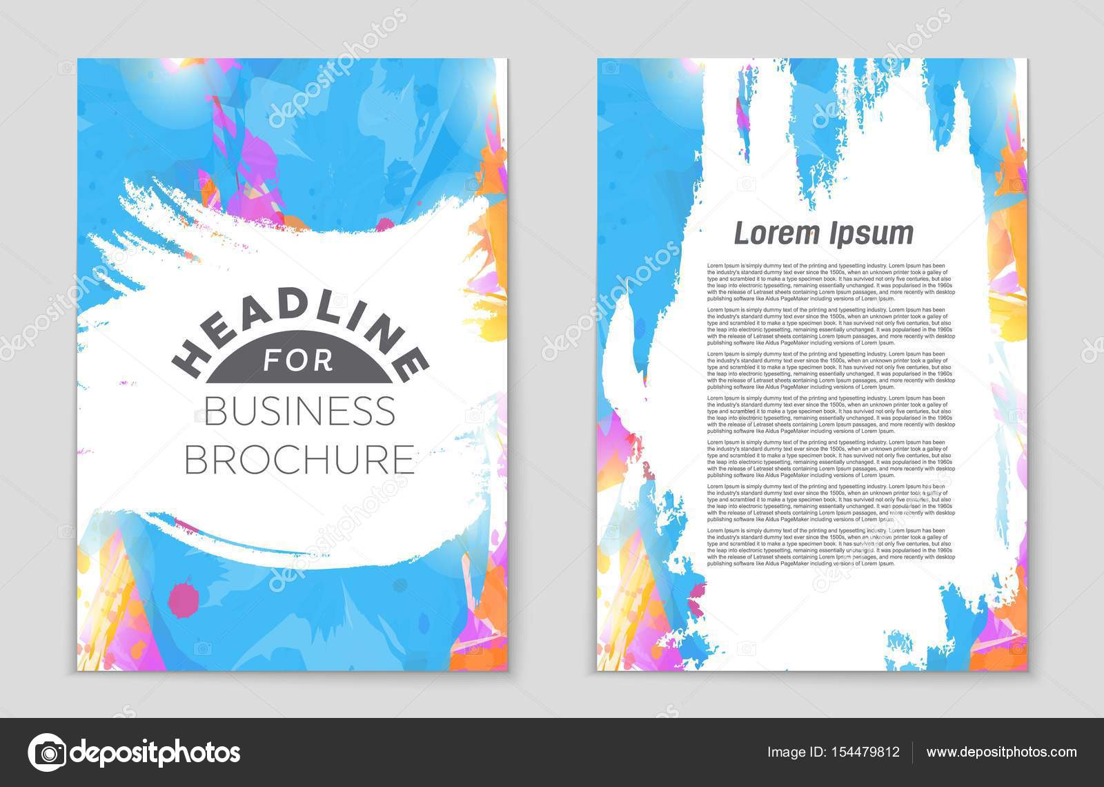 Abstract Vector Layout Background Set For Art Template Design List Front Page Mockup Brochure Theme Style