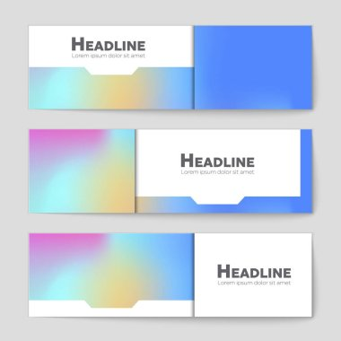 Abstract  layout background set.