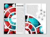 Sada pozadí abstraktní vektorové rozložení. Pro návrh šablony umění, seznam, přední strana, maketa brožura téma styl, banner, idea, kryt, brožury, tisk, leták, kniha, prázdné, karta, ad, znamení, list a4