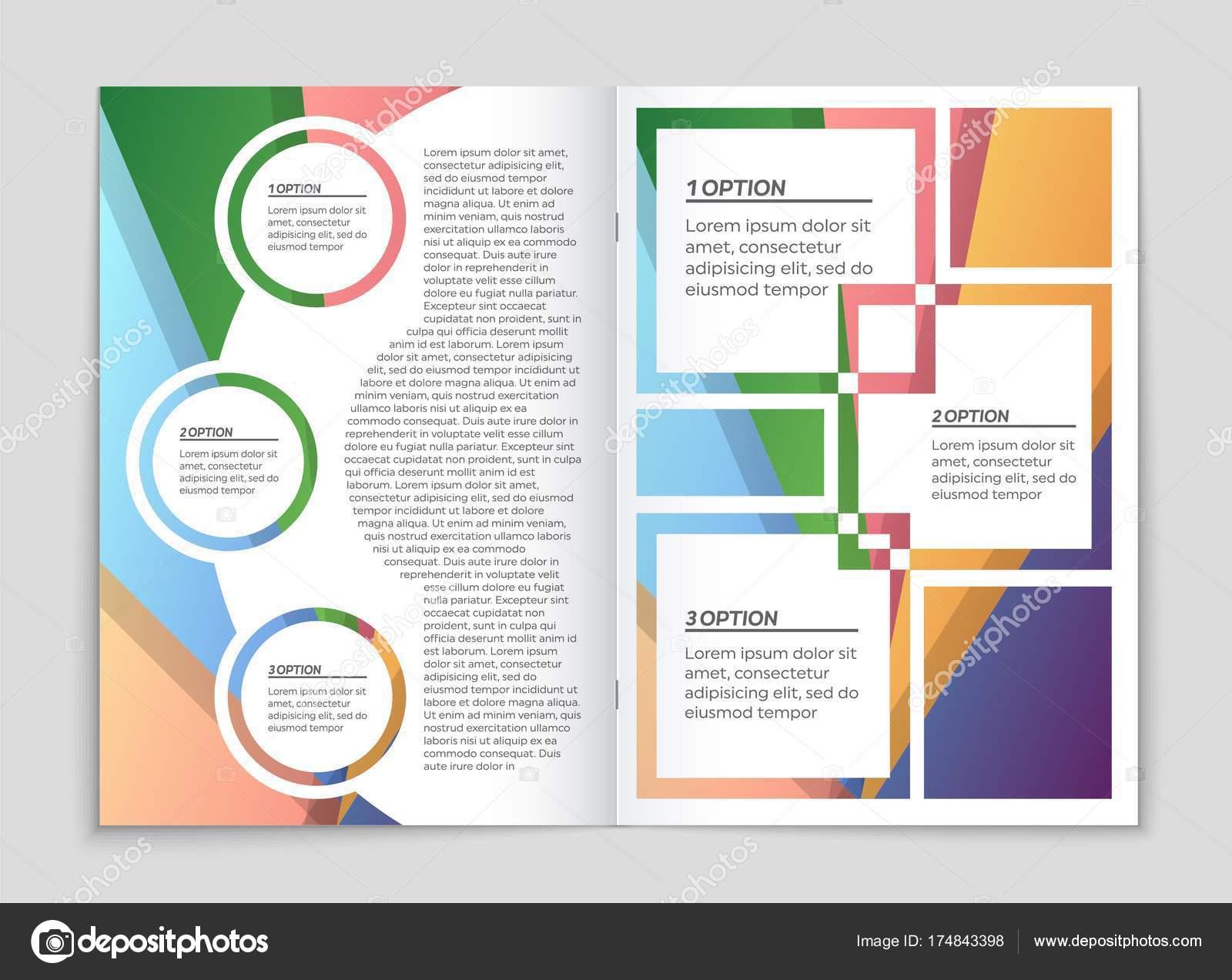 Abstraktes Vektor-Layout-Hintergrund-Set. Für Kunst-Template-Design ...